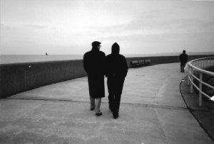 Lehmann und Esterházy im November 1992 an der Ostsee in Travemünde