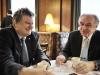 Pavel Kabat and Thomas Henzinger at the Cafe Landtmann / Photo: R. Ferrigato © SciBall